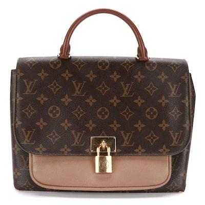 Louis Vuitton Marignan Handbag in Monogram Canvas and Leather