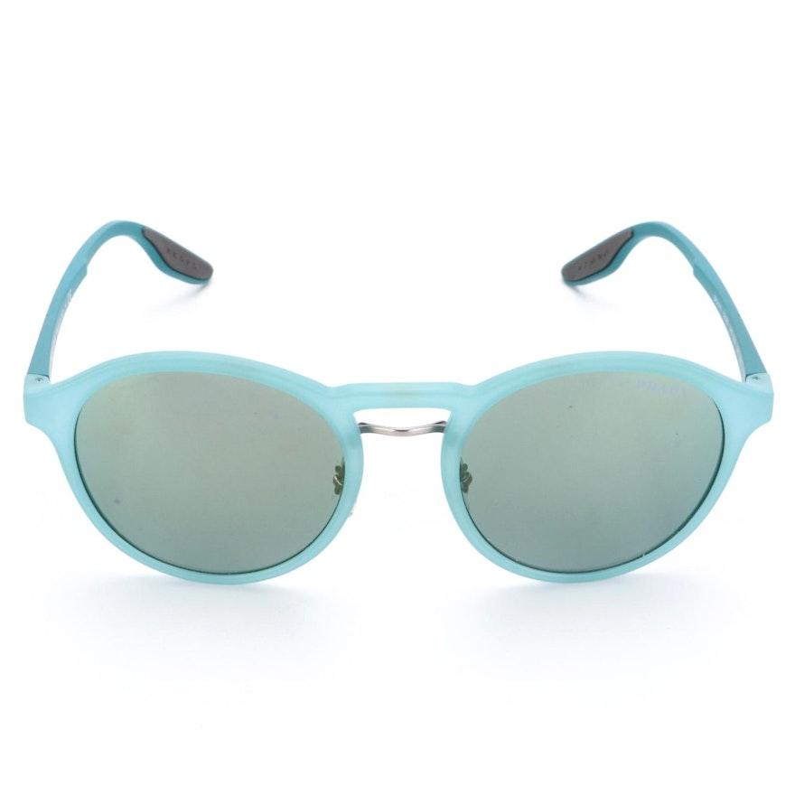 Prada Sport SPS01S Blue Round Sunglasses