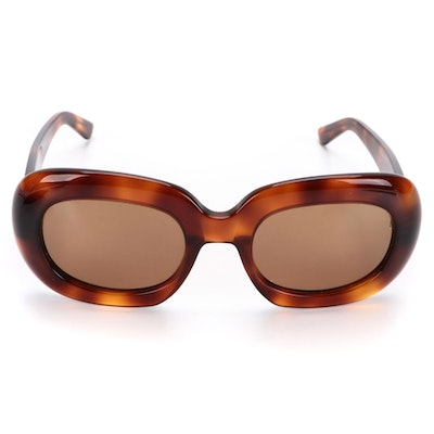 Celine CL400701 Brown Rounded Square Sunglasses