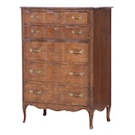 French Provincial Style Five-Drawer Serpentine Commode, Mid-20th Century