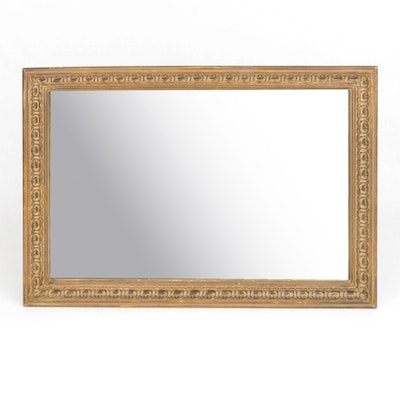 Carved Giltwood Rectangular Wall Mirror, Early to Mid 20th Century