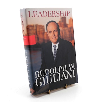"""Signed First Edition """"Leadership"""" by Rudy Giuliani, 2002"""