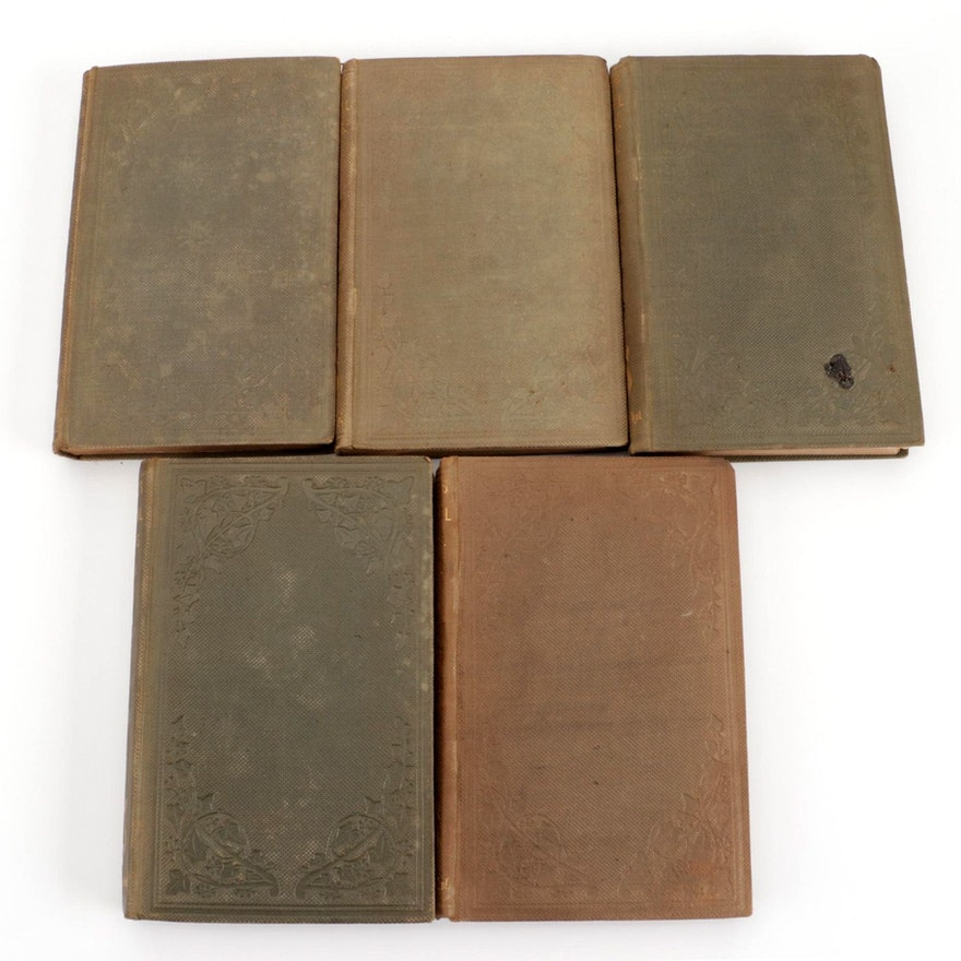 """""""The Poetical Works of Edmund Spenser"""" Five-Volume Set, 1859"""