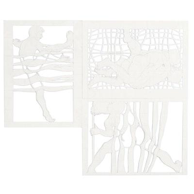 John Tuska Figural Cut Paper Compositions
