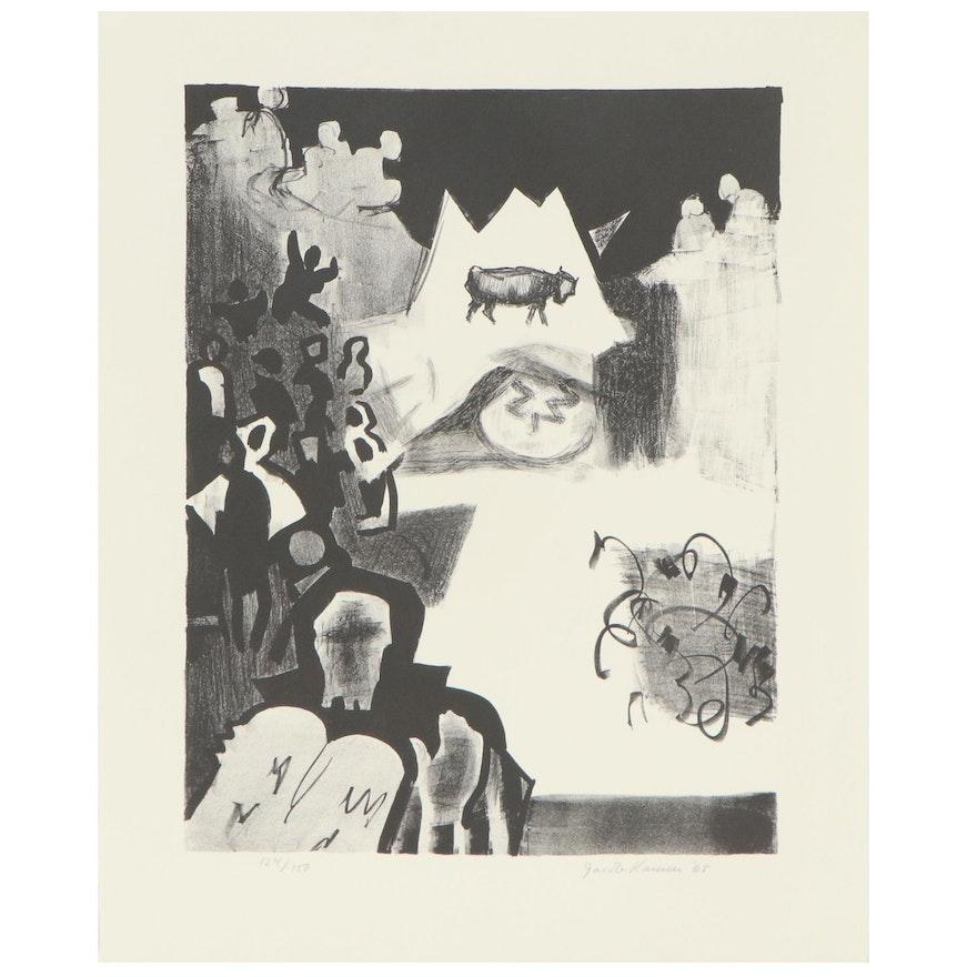 """Jacob Kainen Abstract Lithograph """"The Golden Calf,"""" 1968"""