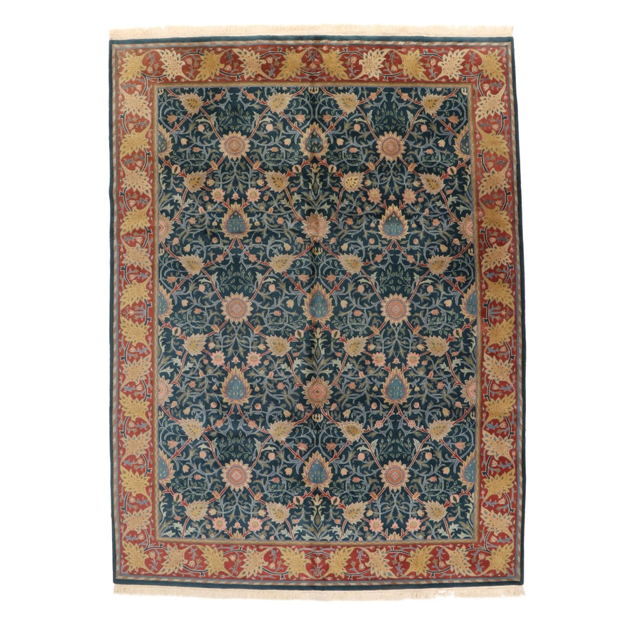 8'9 x 12'5 Hand-Knotted Sino-Persian Tabriz Room Sized Rug, 2000s