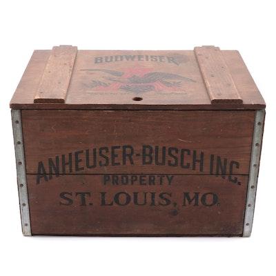 """Anheuser-Busch """"Budweiser"""" Wooden Crate"""