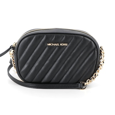Micheal Kors Camera Bag in Black Faux Leather