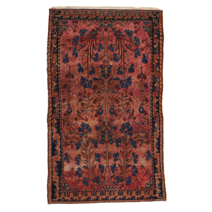 3'10 x 6'8 Hand-Knotted Persian Lilihan Rug, 1920s