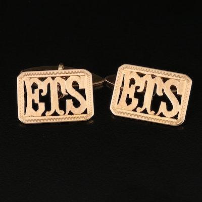 Vintage 14K Monogram Cufflinks