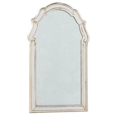 La Barge Italian Regency Double Framed Silver Leaf Mirror, Late 20th Century