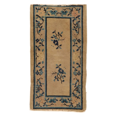 2' x 3'9 Hand-Knotted Chinese Peking Rug, 1920s
