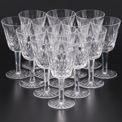 """Waterford Crystal """"Lismore"""" Claret Wine Glasses, Mid to Late 20th Century"""