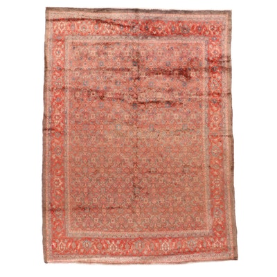 8'7 x 11'10 Hand-Knotted Persian Mahal Room Sized Rug, 1960s