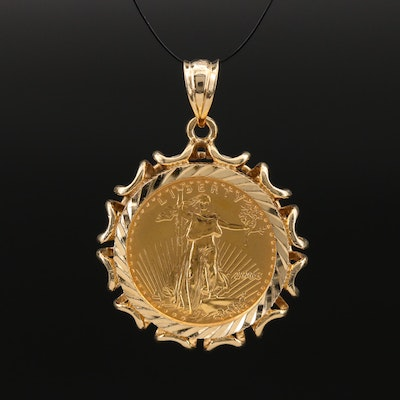 14K Pendant with 2006 Gold Eagle Bullion Coin in