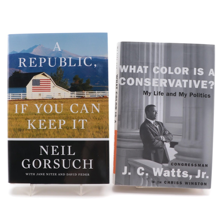 """Signed First Editions """"A Republic"""" and """"What Color is a Conservative?"""""""