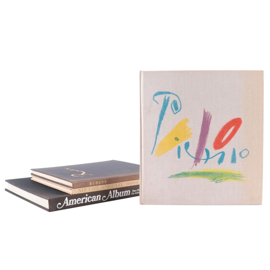 Art Reference Books on Picaso, Michelangelo, and More, Mid-20th Century