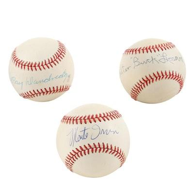 Ray Dandridge, Walter Leonard, Monte Irvin, Signed Baseballs COAs