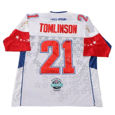 """2007 LaDainian Tomlinson Signed Reebok """"Pro Bowl"""" San Diego Chargers Jersey"""