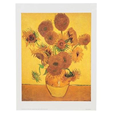 "Offset Lithograph after Vincent Van Gogh ""Sunflowers,"" 21st Century"