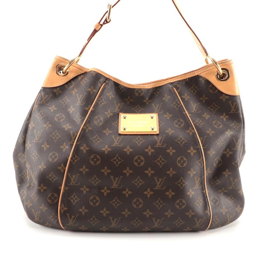Louis Vuitton Galliera GM Bag in Monogram Canvas and Vachetta Leather