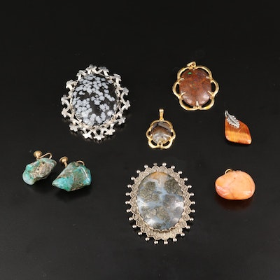 Jewelry Selection Featuring Snowflake Obsidian, Druzy and Agate