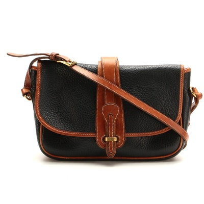 Dooney & Bourke Large Equestrian Crossbody in Black All-Weather Leather