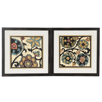 Offset Lithograph of Floral Patterns, Late 20th Century