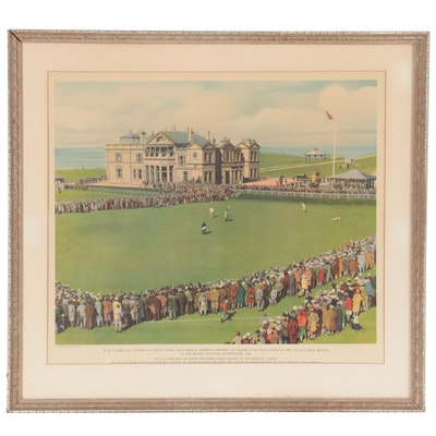 Offset Lithograph of British Amateur Championship, Late 20th Century