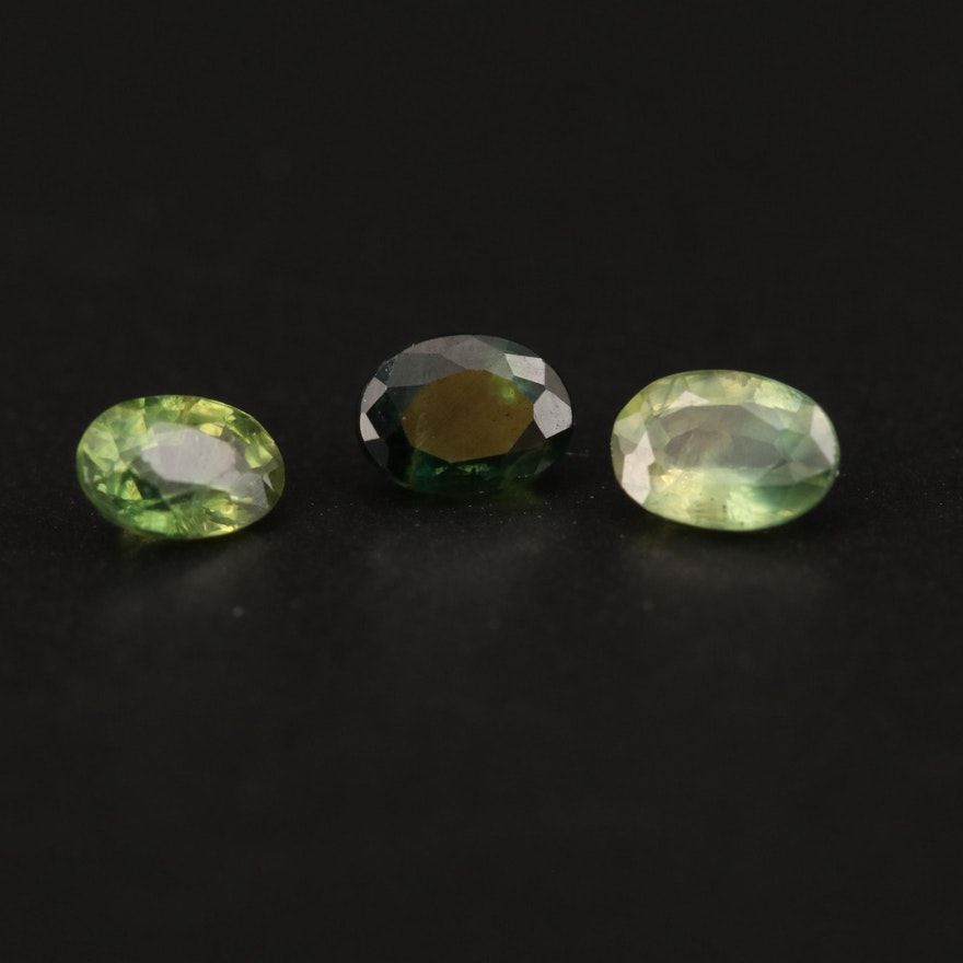 Loose 0.69 CTW Oval Faceted Sapphire