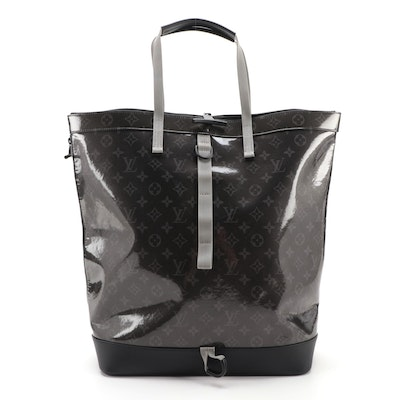 Louis Vuitton Zipped Backpack Tote in Glazed Monogram Eclipse Canvas