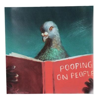 "Giclée After Lucia Heffernan ""Pooping on People,"" 21st Century"
