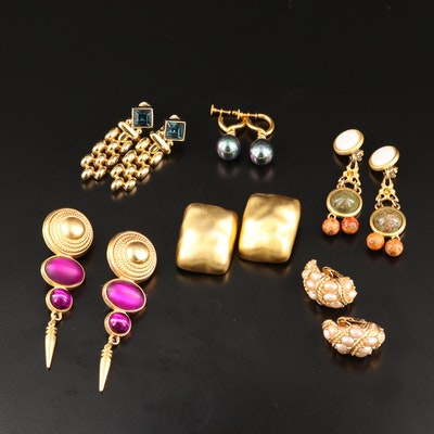 Vintage Earrings Featuring Givenchy, Boucher and Swarovski