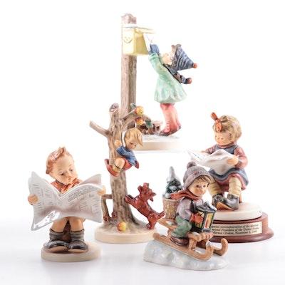 "Goebel ""Letter to Santa Claus"" and Other Porcelain Hummel Figurines"
