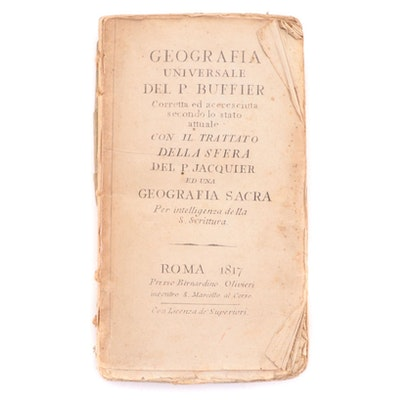 """Illustrated """"Geografia universale"""" by Claude Buffier and François Jacquier, 1817"""