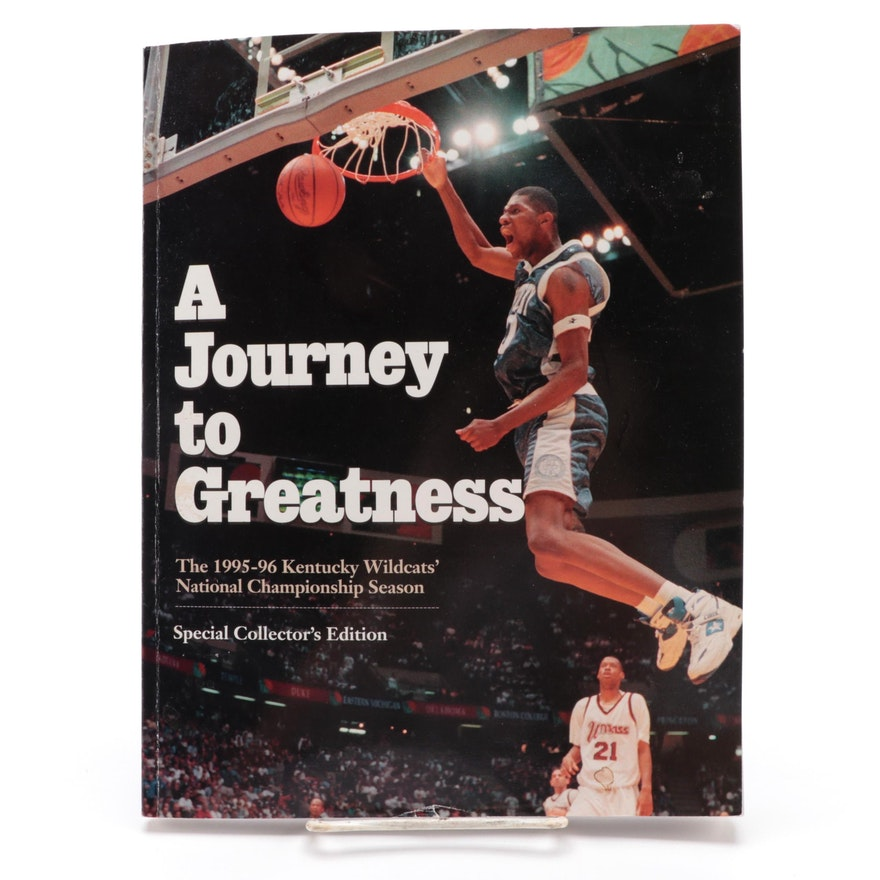 """""""A Journey to Greatness"""" Signed by Walter McCarty, Tony Delk, and Mark Pope"""