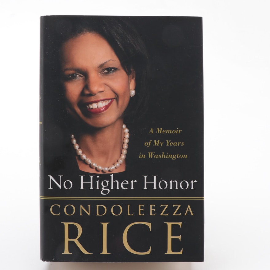 """Signed First Edition """"No Higher Honor"""" by Condoleezza Rice, 2011"""
