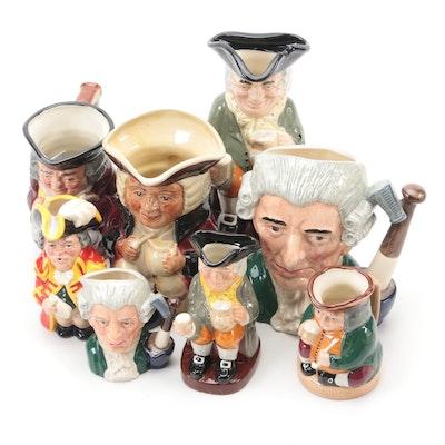 Royal Doulton and Tony Wood Ceramic Character Jugs