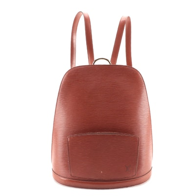 Louis Vuitton Gobelins Backpack Bag in Kenyan Fawn Epi Leather