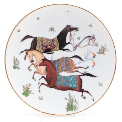 """Hermès """"Cheval d'Orient"""" Porcelain Salad Plate"""