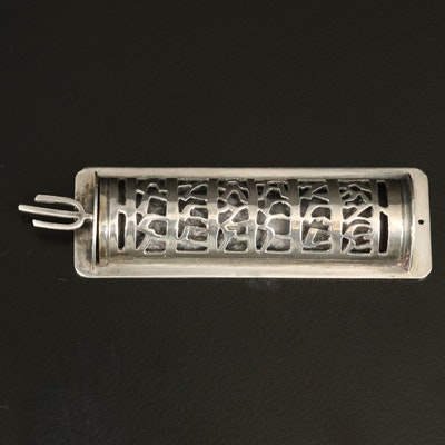 Reticulated Sterling Silver Mezuzah
