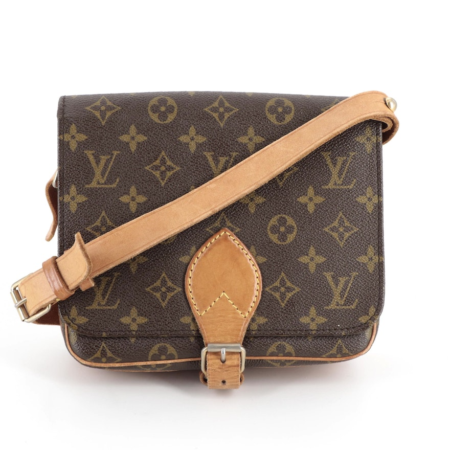 Louis Vuitton Cartouchiere PM Bag in Monogram Canvas and Leather