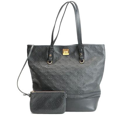 Louis Vuitton Citadine Shoulder Bag and Pochette in Monogram Empreinte Leather