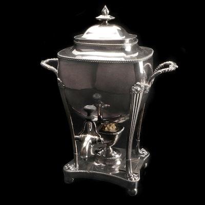 Georgian Style Silver Plate Tea Urn, Late 19th/ Early 20th Century