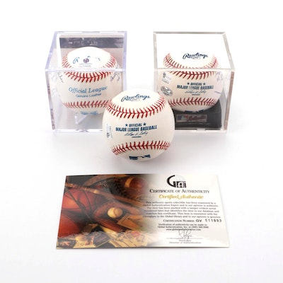 All-American Girls League Professional and an Olympian Signed Baseballs