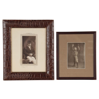 Silver Gelatin Photographs of Fencer and Baseball Player, Early-Mid 20th Century