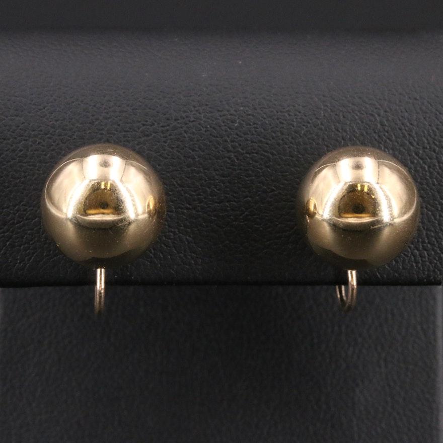 14K Sphere Stud Earrings