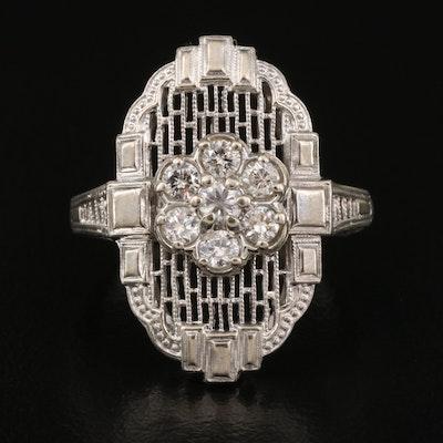 Art Deco Style 14K Diamond Ring