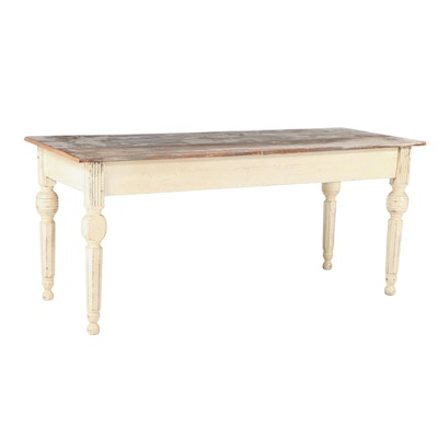 American Primitive Painted Harvest Table