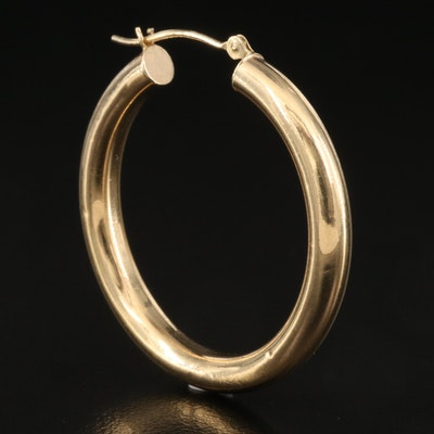 14K Single Hoop Earring